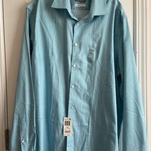 Michael Kors Dress Shirt 17.5 x 36/37 Azure Blue
